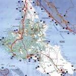 Map of island Krk